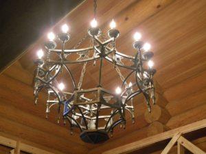 Кованый светильник 3