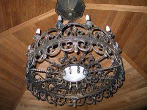 Кованый светильник 5