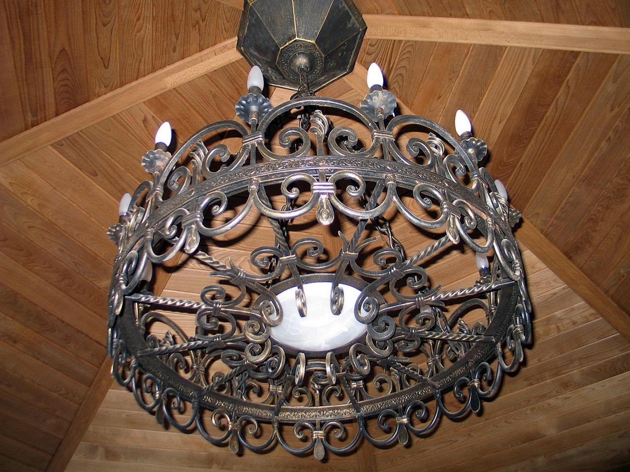 Кованый светильник своими руками из 614